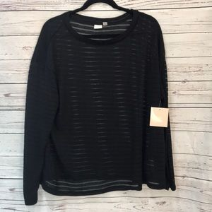NWT 14th & union sheer sweater {K15